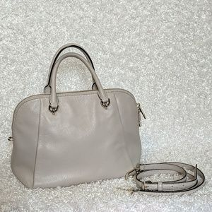 Tan/Gray Kate Spade Satchel Purse
